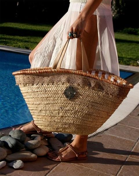 140fc23446 Fashion Trend  Ψάθινες τσάντες για το τέλειο beach look και όχι μόνο ...