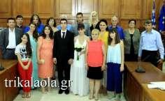 Γάμος Ανδρέας Λιόλιος Κρυσταλία Τσιασιώτη δημαρχείο Τρικάλων