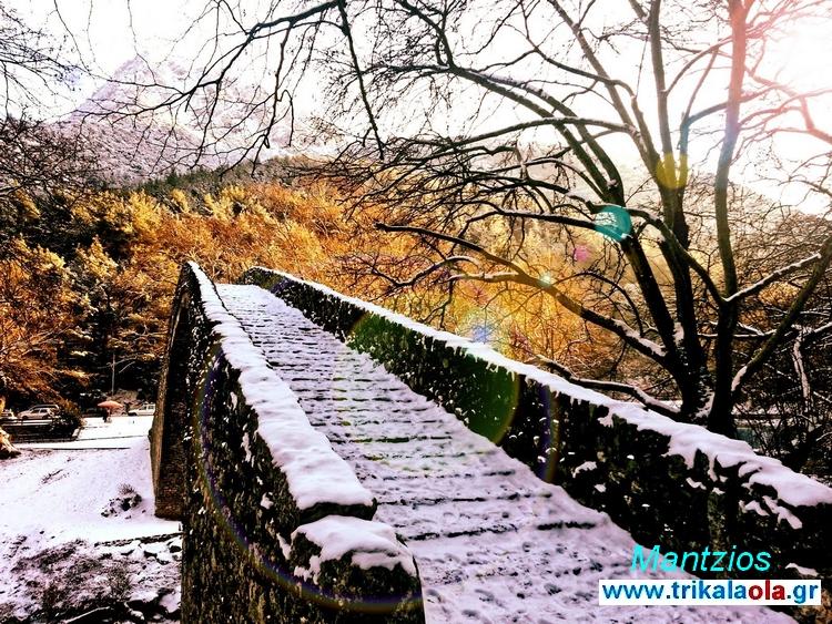 Πύλη Πόρτα Παναγιά χιονισμένη