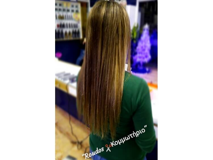 «Roudos Κομμωτήριο» Γίνεται να κουρευτείς χωρίς να χάσεις καθόλου από το μήκος  των μαλλιών  ce72056f384