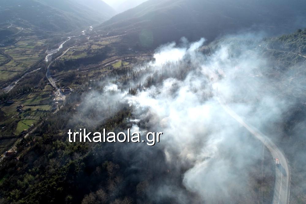 fotia loggies pylh trikalon 2019 1 - Μεγάλη καταστροφική φωτιά σε ορεινή περιοχή του δήμου Πύλης Τρικάλων.