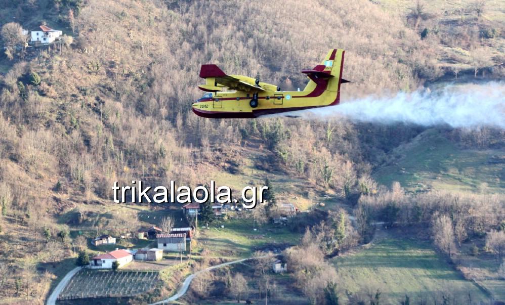 fotia loggies pylh trikalon 2019 51 - Μεγάλη καταστροφική φωτιά σε ορεινή περιοχή του δήμου Πύλης Τρικάλων.